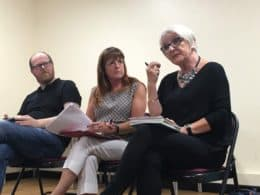 Manon Rhys, Sioned Davies a Llion Pryderi Roberts